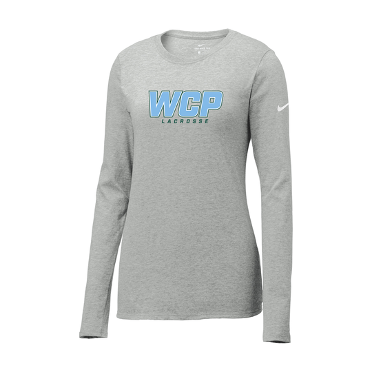 WCP Girls Lacrosse Nike Ladies Core Cotton Long Sleeve Tee