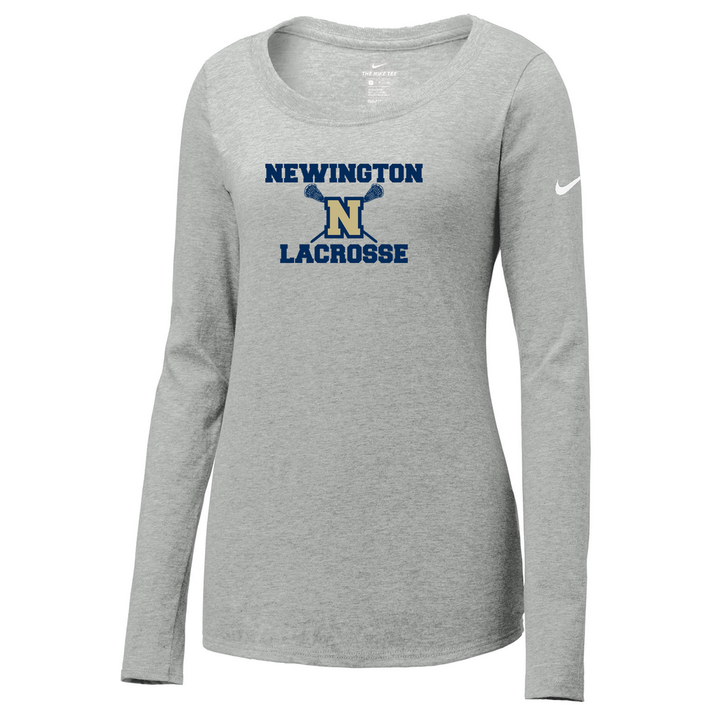 Newington High School Lacrosse Nike Ladies Core Cotton Long Sleeve Tee
