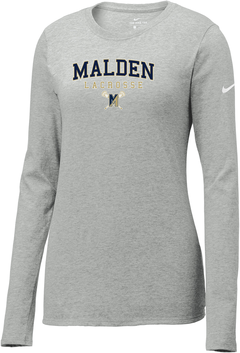 Malden Lacrosse Nike Ladies Core Cotton Long Sleeve Tee
