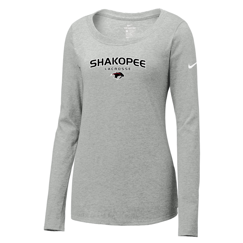Shakopee Lacrosse Nike Ladies Core Cotton Long Sleeve Tee