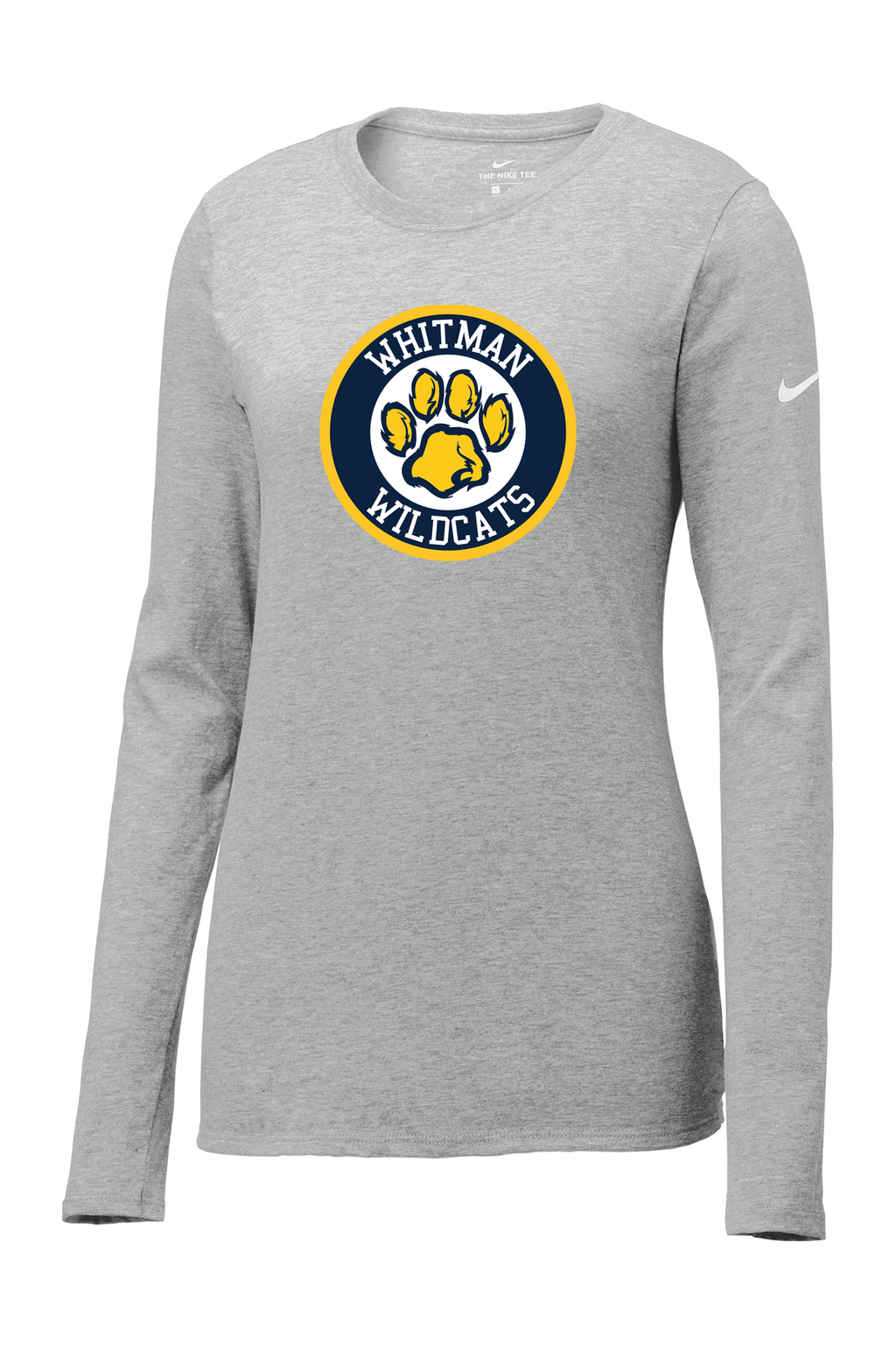 Whitman Wildcats Nike Ladies Core Cotton Long Sleeve Tee