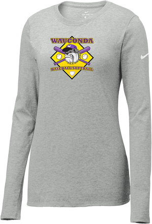 Wauconda Baseball & Softball Nike Ladies Core Cotton Long Sleeve Tee