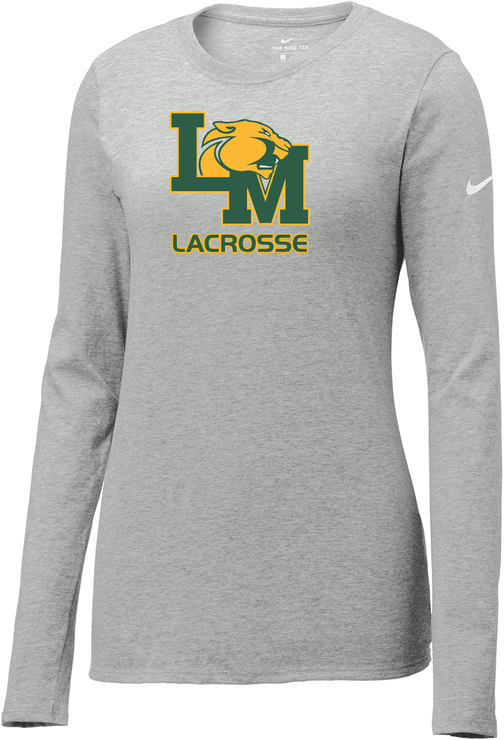 Little Miami Lacrosse Grey Heather Nike Ladies Core Cotton Long Sleeve Tee