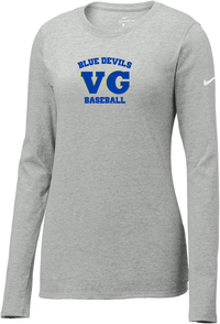 Blue Devils Baseball Nike Ladies Core Cotton Long Sleeve Tee