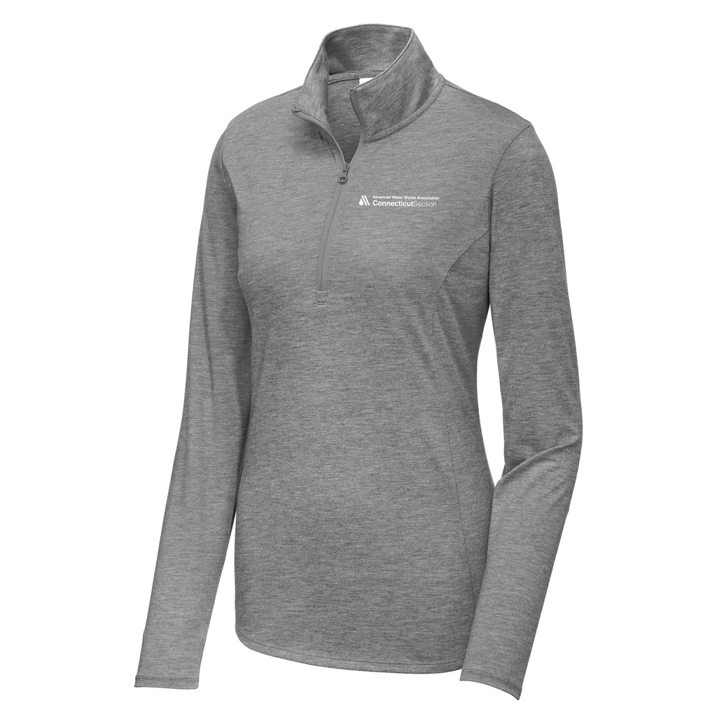 AWWA Connecticut Section Women's Tri-Blend Quarter Zip