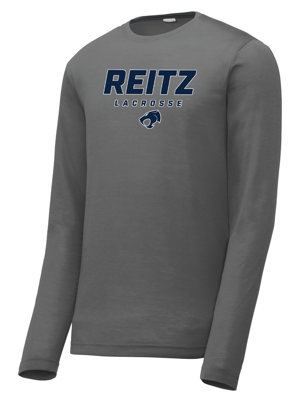 Reitz Lacrosse Dark Grey Long Sleeve CottonTouch Performance Shirt