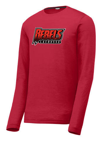 Rebels Lacrosse Red Long Sleeve CottonTouch Performance Shirt