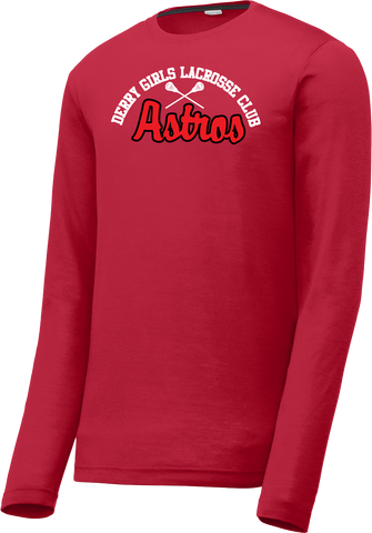 Derry Girls Lacrosse Men's Red Long Sleeve CottonTouch Performance Shirt