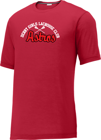 Derry Girl's Lacrosse Men's Red CottonTouch Performance T-Shirt