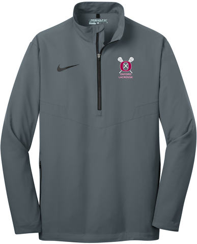 Oxford Youth Lacrosse Men's Grey Nike 1/2 Zip Wind Shirt