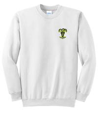 Epic Lacrosse Jokers White Crew Neck Sweatshirt Alt Logo