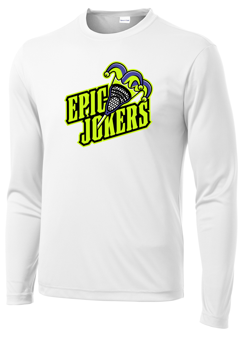 Epic Lacrosse Jokers White Long Sleeve Performance Shirt