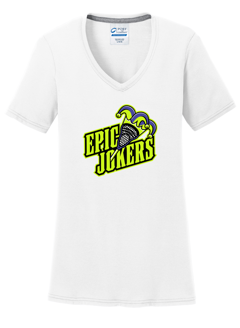 Epic Jokers Lacrosse Women's White T-Shirt