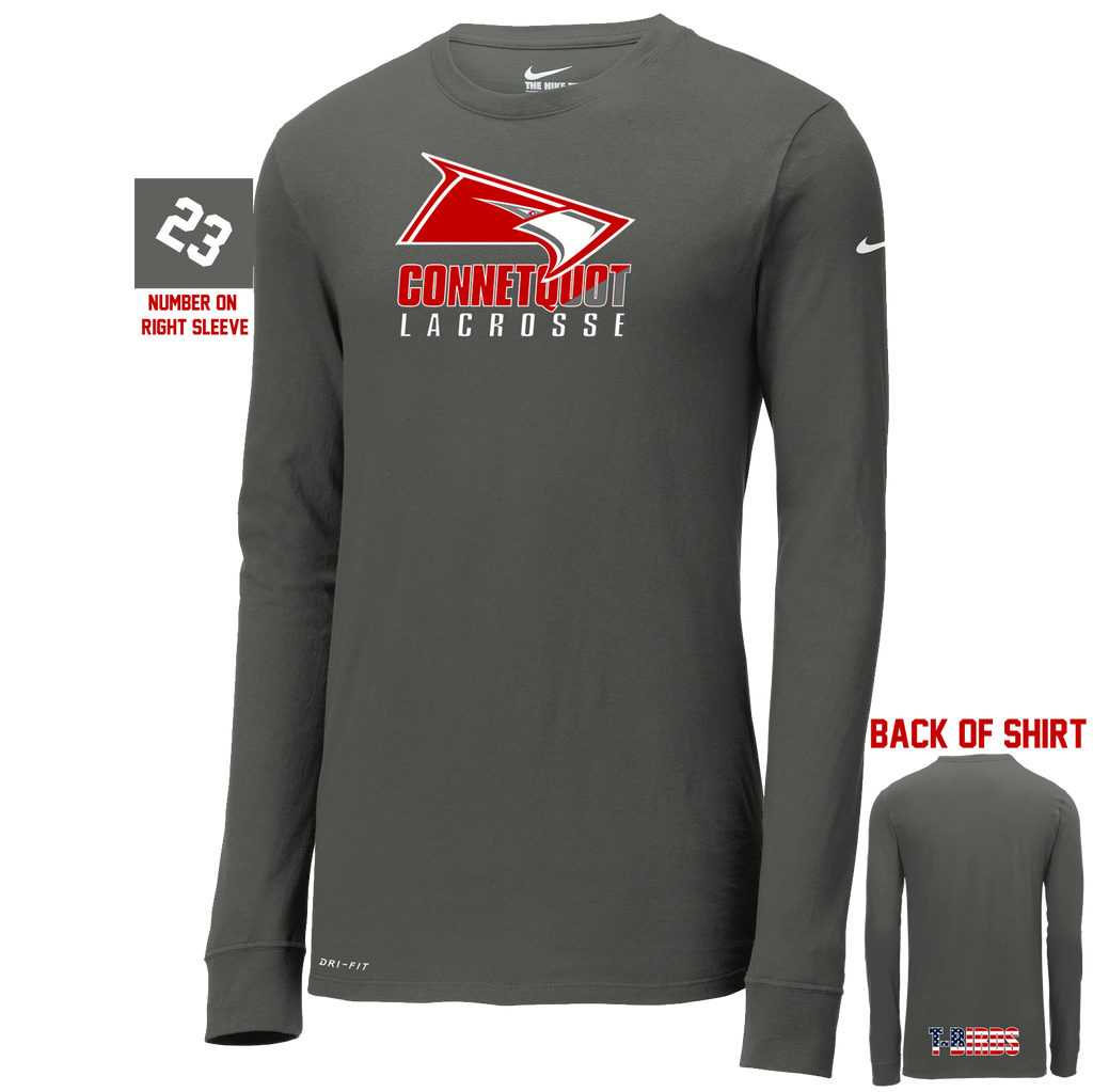Connetquot Lacrosse Nike Dri-FIT Long Sleeve Shooting Shirt