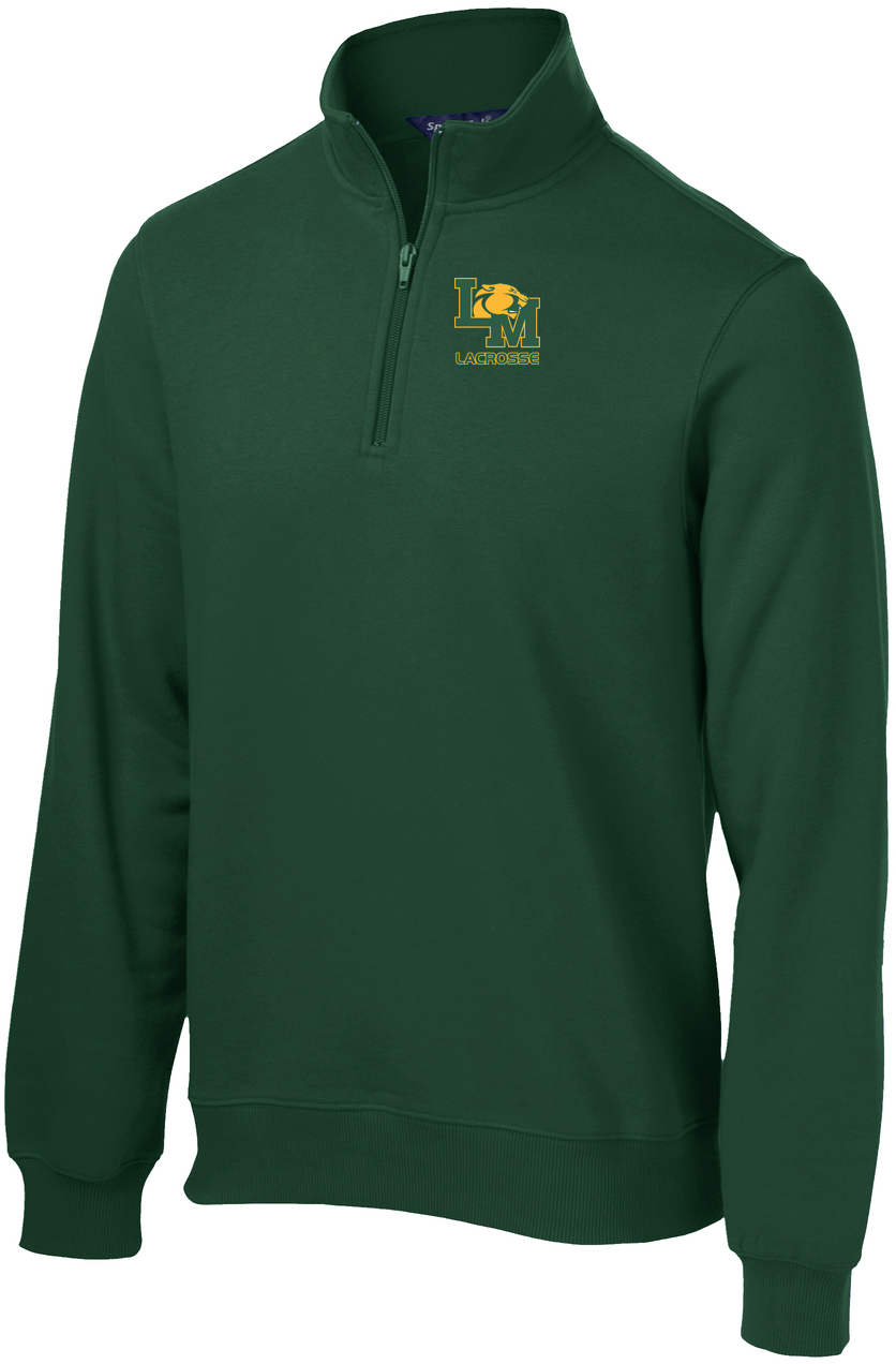 Little Miami Lacrosse Forest Green 1/4 Zip Fleece