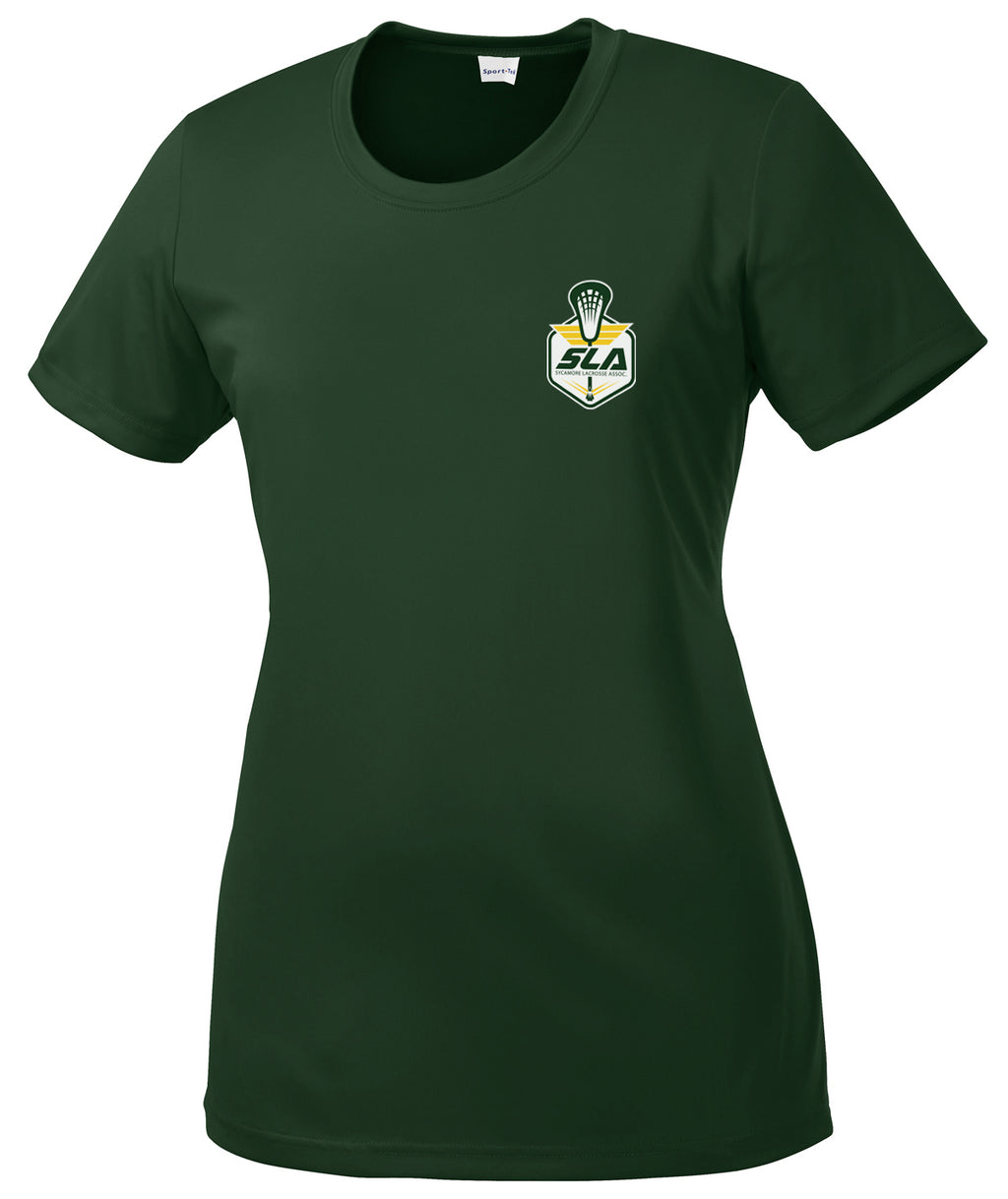 Sycamore Lacrosse Association Women's Forest Green Performance Tee