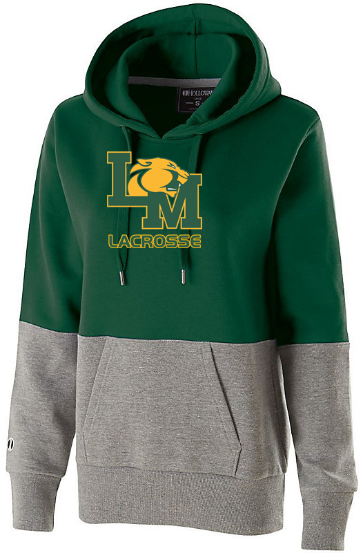 Little Miami Lacrosse Women's Green & White Colorblock Hoodie