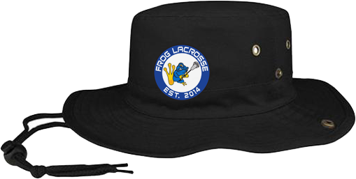 Frog Lacrosse Black Bucket Hat