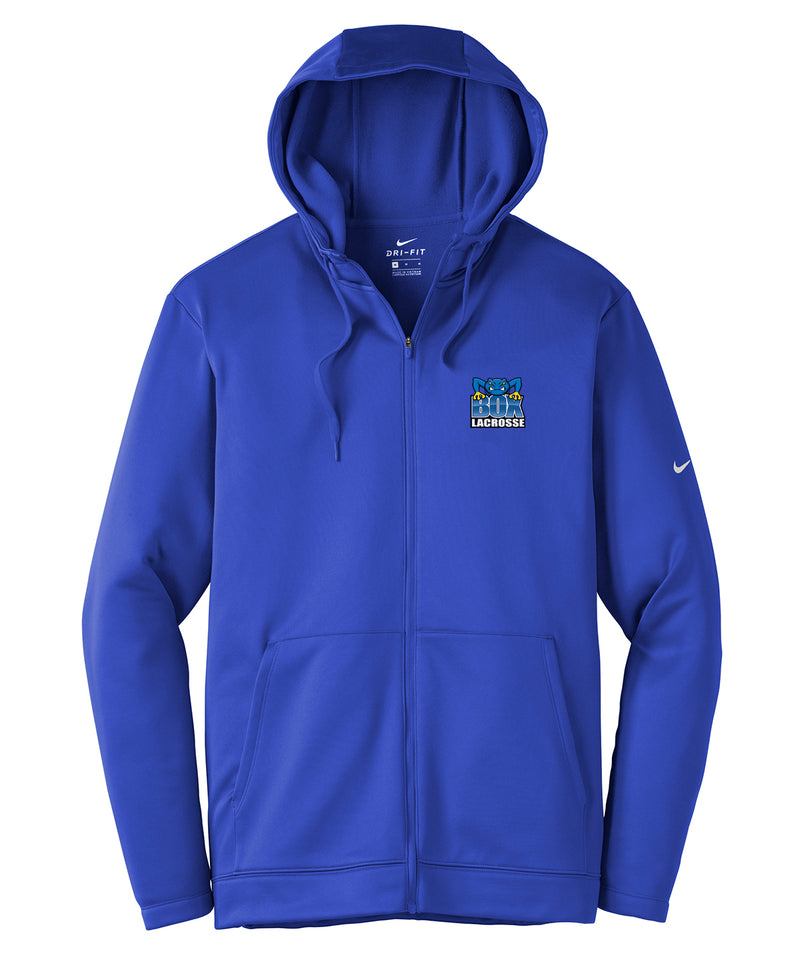 Frog Box Lacrosse Royal Nike Therma-FIT Full Zip Hoodie