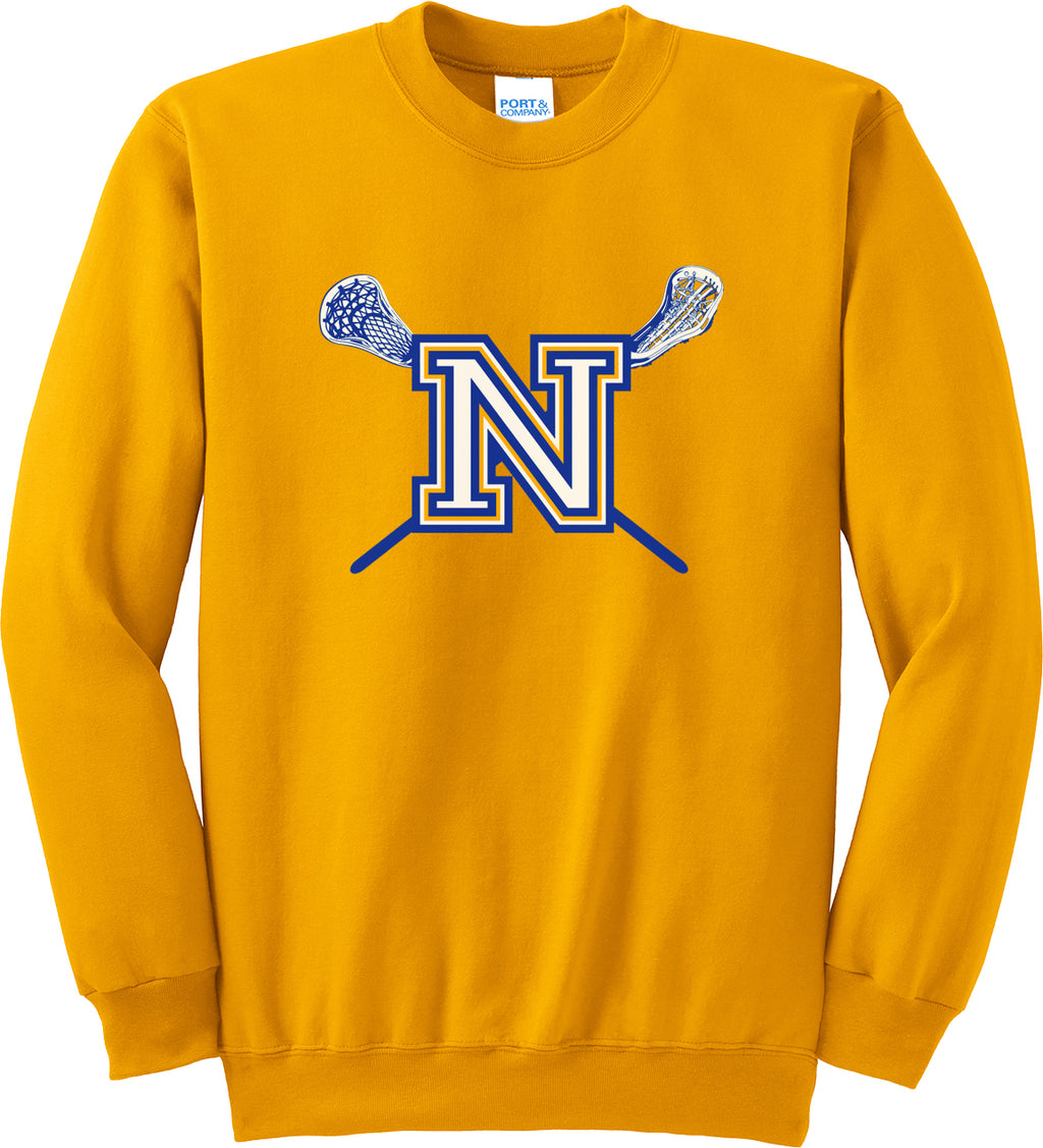 Newington Lacrosse Gold Crew Neck Sweatshirt