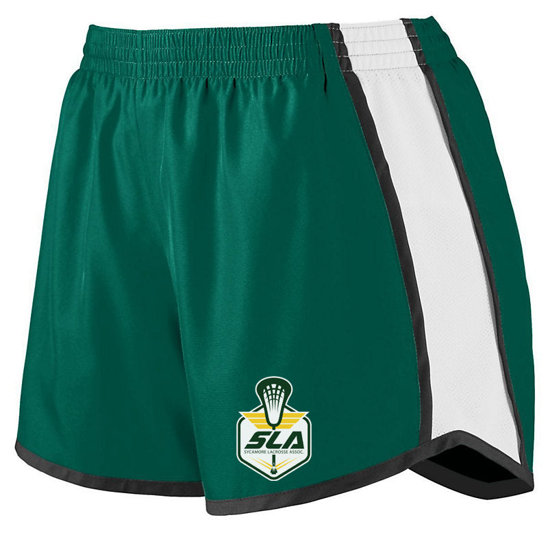 Sycamore Lacrosse Association Women's Green/White/Black Pulse Shorts