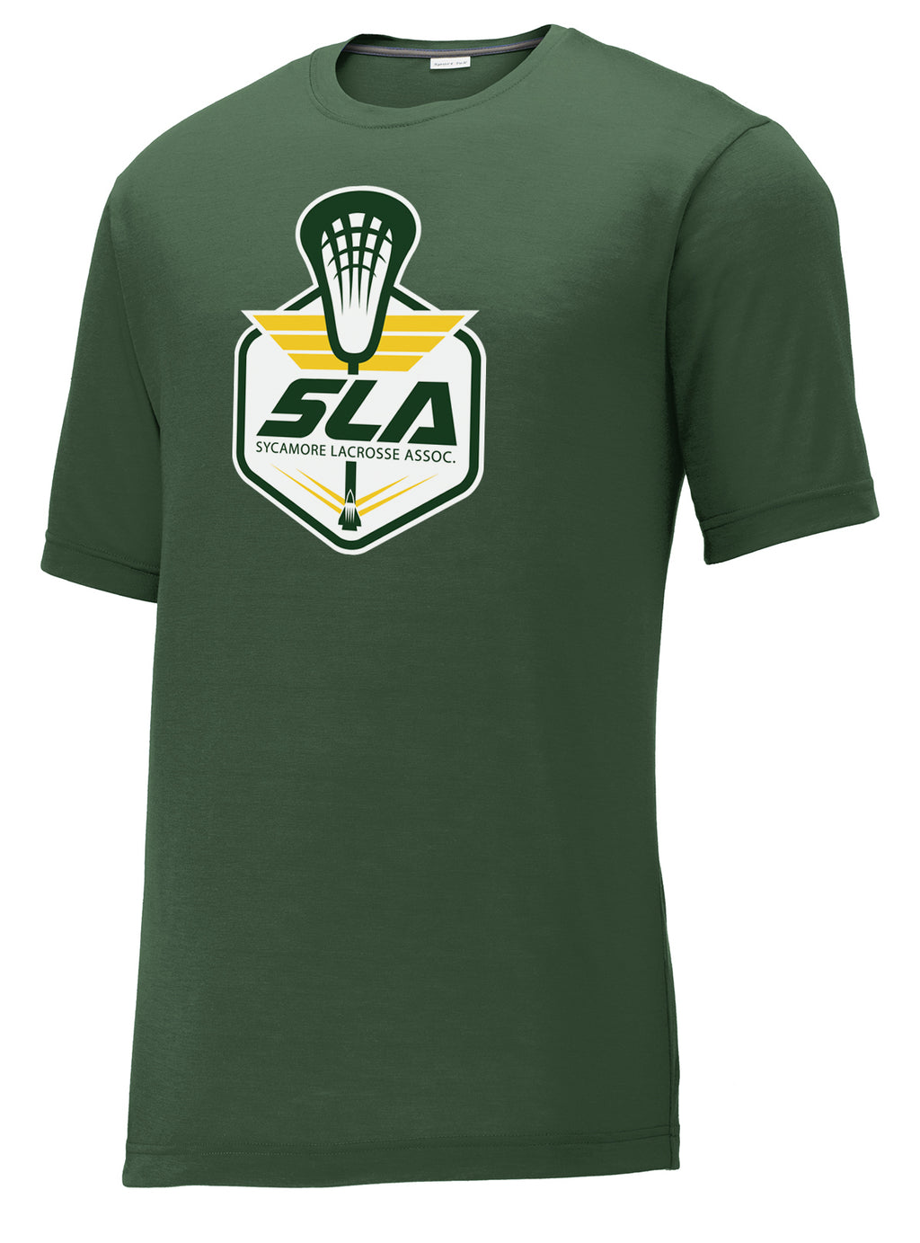 Sycamore Lacrosse Association Green CottonTouch Performance T-Shirt