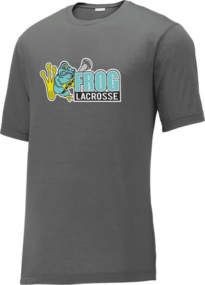 Frog Girls Lacrosse Grey CottonTouch Performance T-Shirt