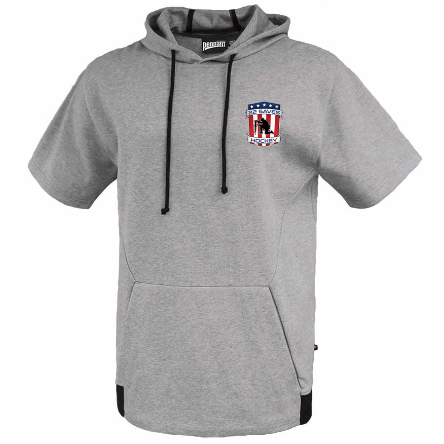 22 Saves Hockey Short Sleeve Hoodie
