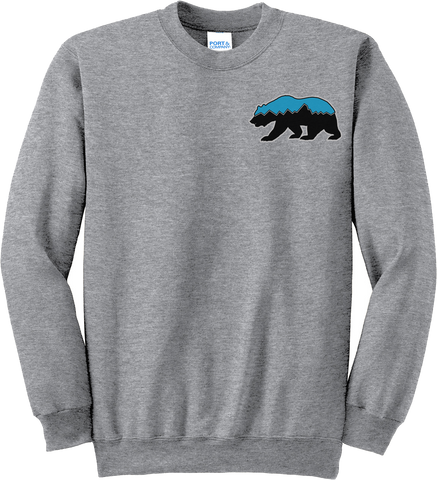 Grizz Lacrosse Logo Crew Neck Sweater