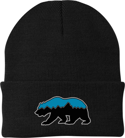 Grizz Lacrosse Knit Beanie