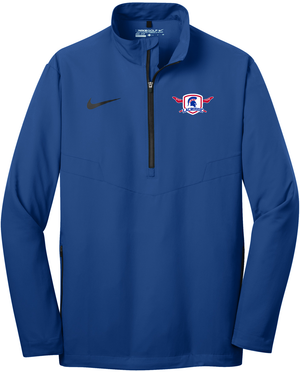 Bixby Lacrosse Royal Nike 1/2 Zip Wind Shirt