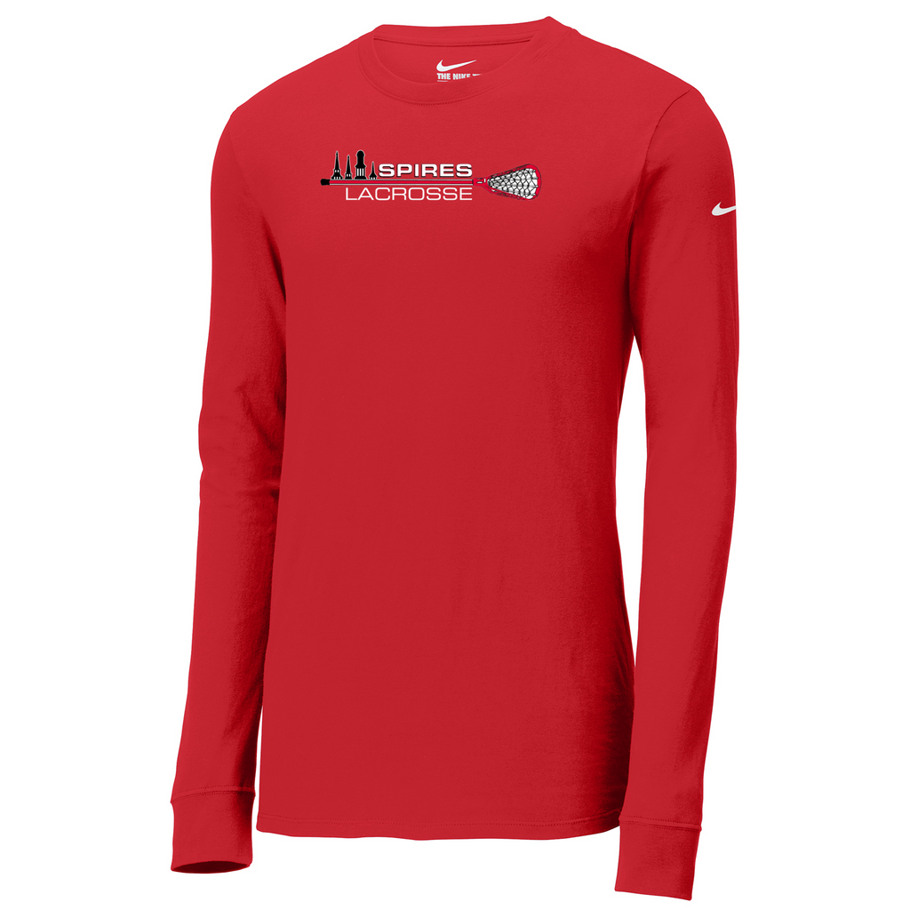 Spires Lacrosse Nike Core Cotton Long Sleeve Tee