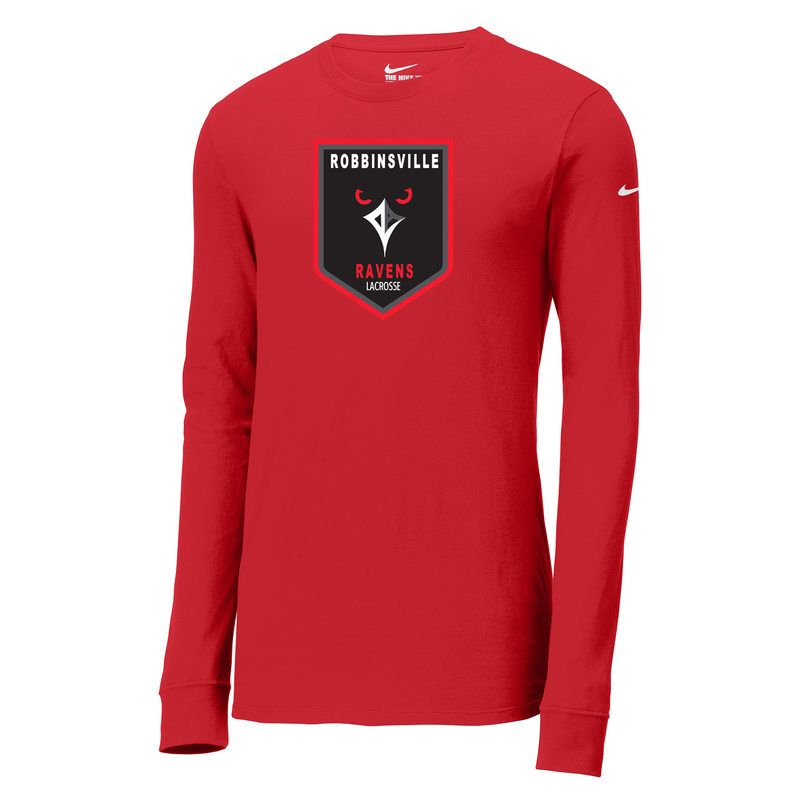 Robbinsville Lacrosse Association Nike Core Cotton Long Sleeve Tee