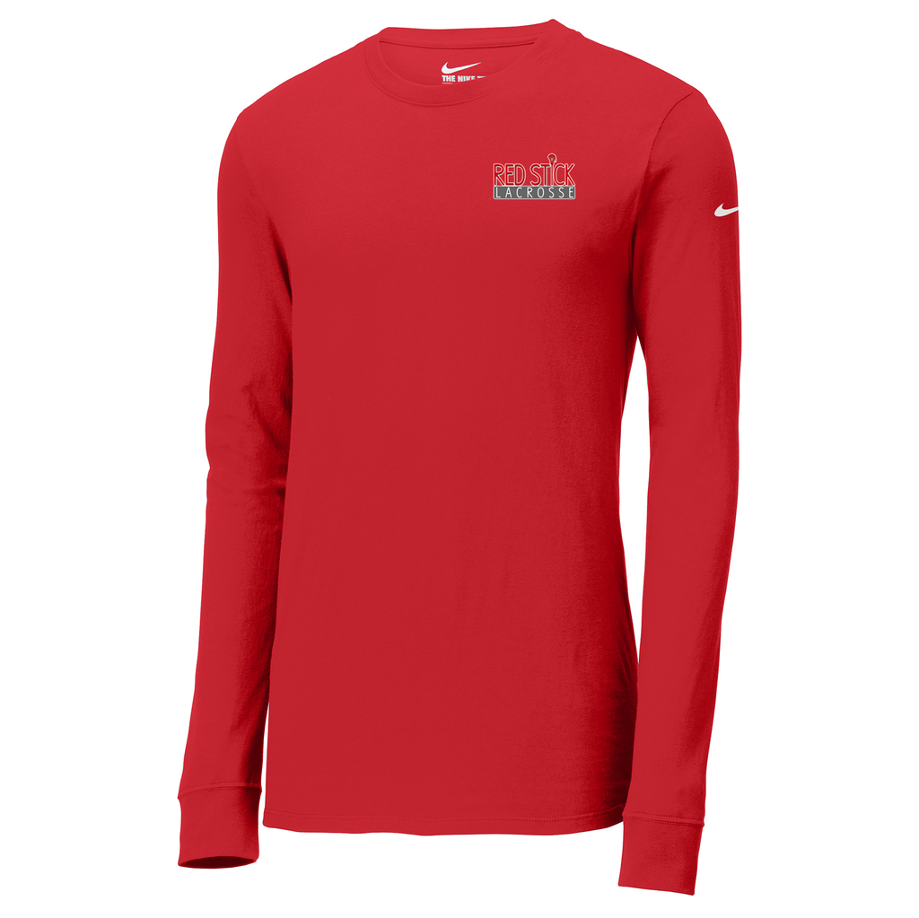Red Stick Lacrosse Nike Core Cotton Long Sleeve Tee