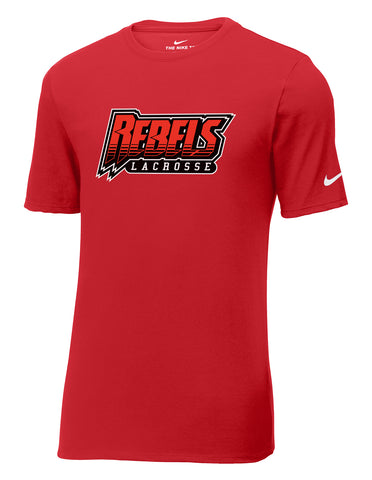 Rebels Lacrosse Gym Red Nike Core Cotton Tee