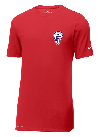 Freedom Lacrosse Gym Red Nike Dri-FIT Tee