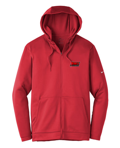 Rebels Lacrosse Gym Red Nike Therma-FIT Full Zip Hoodie