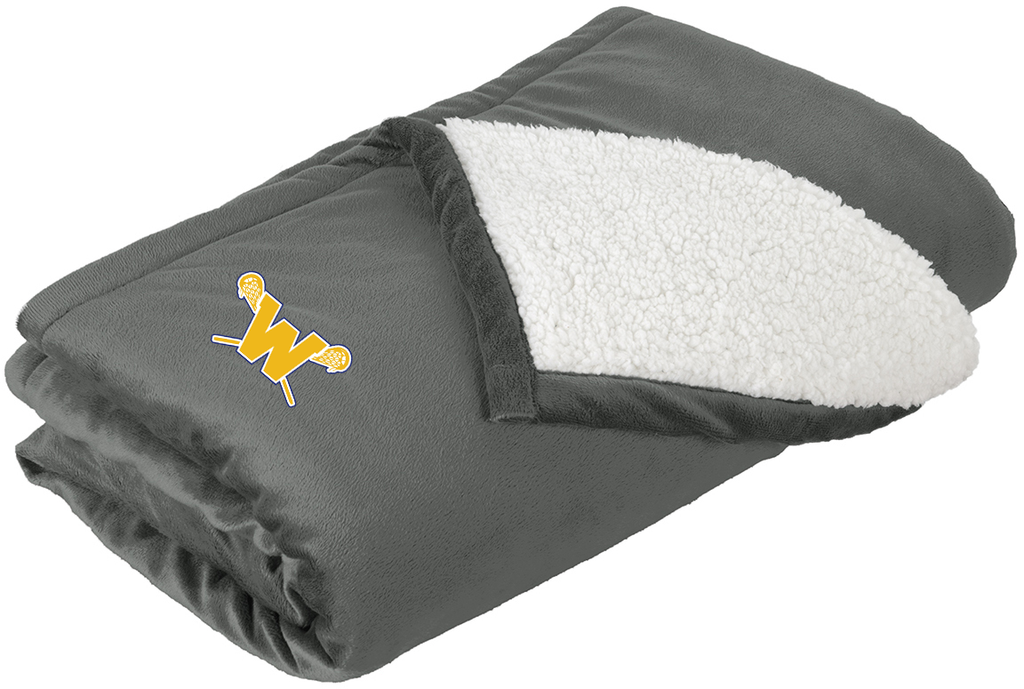 Webster Lacrosse Grey Blanket