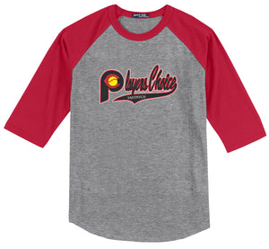 Player's Choice Academy Softball 3/4 Sleeve Baseball Shirt