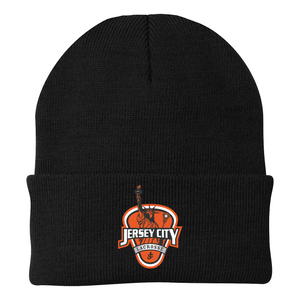 Jersey City Lacrosse Black Knit Beanie Shield Logo