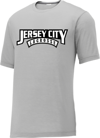 Jersey City Lacrosse Grey CottonTouch Performance T-Shirt Text Logo