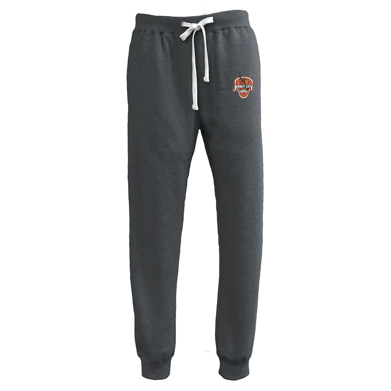 Jersey City Lacrosse Black Heather Joggers Shield Logo