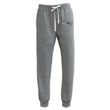 Jersey City Lacrosse Grey Joggers Text Logo