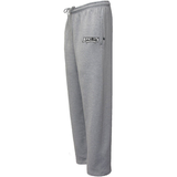 Jersey City Lacrosse Grey Sweatpants Text Logo