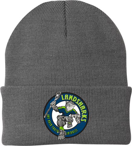 Bay Area Landsharks Grey Knit Beanie