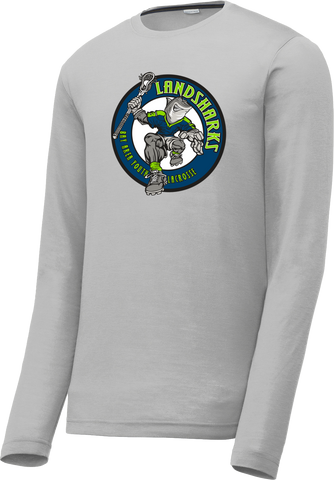 Bay Area Landsharks Grey Long Sleeve CottonTouch Performance Shirt