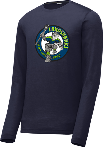 Bay Area Landsharks Navy Long Sleeve CottonTouch Performance Shirt