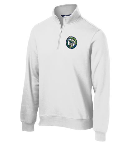 Bay Area Landsharks White 1/4 Zip Fleece