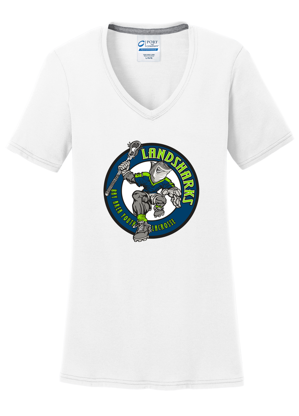 Bay Area Landsharks Women's White T-Shirt