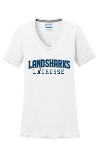 Bay Area Landsharks Women's White T-Shirt Text Logo